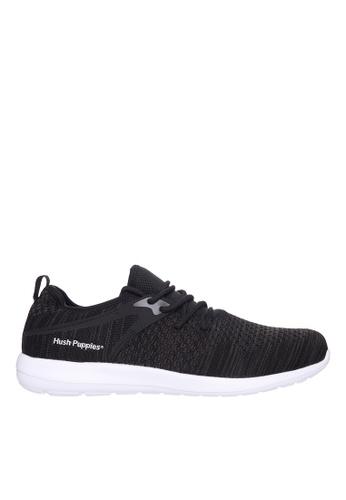 Hush Puppies black Hush Puppies Men's Aldo Sneaker - Black B1E34SH743184DGS_1