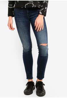 ccaa94219e Armani Exchange blue Ripped Knee Jeans DB9D9AAFBF525FGS 1