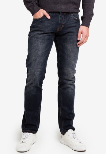 OVS 藍色 修身水洗牛仔褲 F1727AAC5EBEB8GS_1