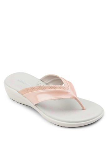 夾腳厚底楔型拖鞋、 女鞋、 鞋Spiffy夾腳厚底楔型拖鞋最新折價