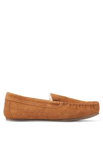 Burton Menswear London brown Tan Suede Slippers BU964SH0T1H2MY_1