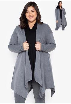 13807e4b19 Kris Curve grey Plus Size Kaia Long Sleeves Cardigan 0EB6CAAE4DBA12GS_1