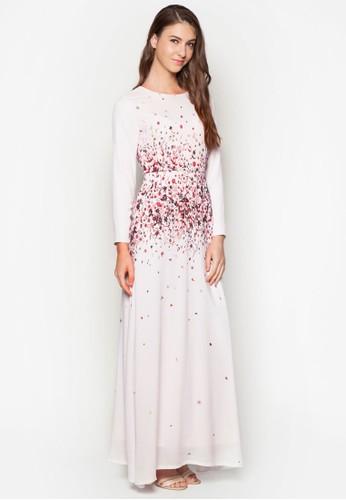 花卉長洋裝,esprit outlet台北 服飾, 洋裝