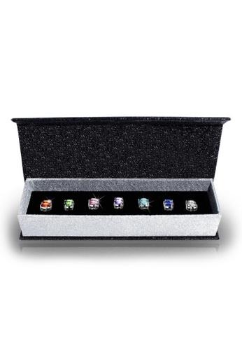 Her Jewellery multi Swarovski® Crystals - 7 Days Earrings Set (18K White Gold Plated) Her Jewellery HE581AC50HUZMY_1