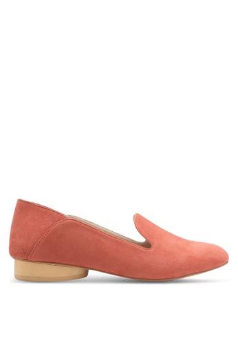 ZALORA pink Microfiber Loafers 9736CSHDBB1E3DGS_1
