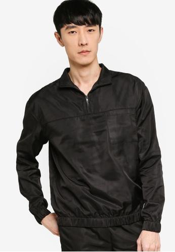 ZALORA BASICS black Utility Sweatshirt 50D41AA86E7134GS_1
