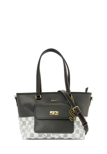 SEMBONIA grey SEMBONIA Synthetic Leather Tote Bag (Grey) SE598AC0RUTTMY_1