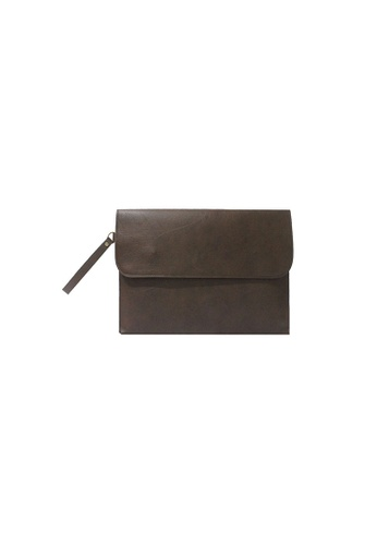 Knocks brown Brighton Clutch (Dark Brown) KN307AC76KPBSG_1