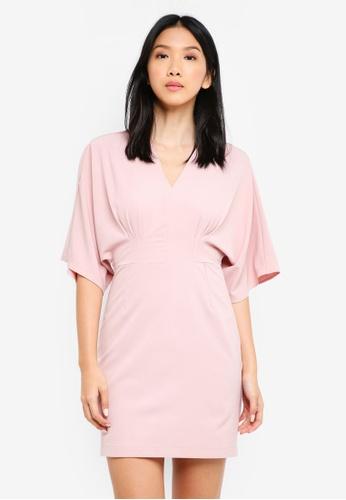 ZALORA pink Kimono Sleeve Dress 917F0AA4950BF7GS_1