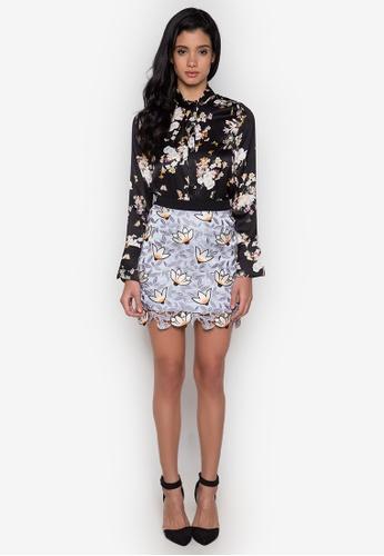 NOBASIC multi Floral Crochet Mini Skirt NO444AA0GRE6SG_1
