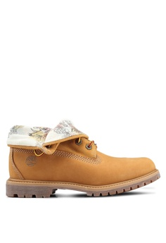90fa687a501 Timberland brown Authentics Roll-Top Boots 8AB1ESH6674B64GS 1