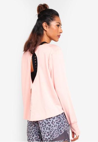 Cotton On Body pink Asana Long Sleeve Top 26B0BAA8C64F9AGS_1