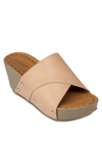 寬帶楔型跟涼鞋, 女鞋esprit台灣outlet, 楔形涼鞋