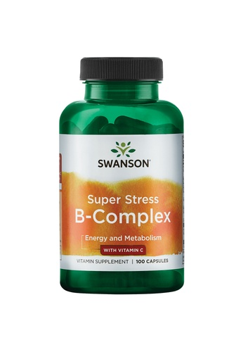 Pure & Well SWANSON SUPER STRESS B COMPLEX WITH VITAMIN C 100 CAPS 9A92FES620CF9DGS_1