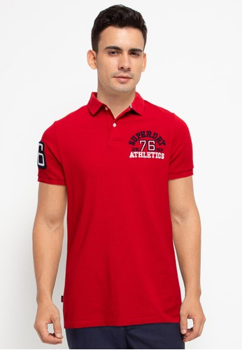 Superdry red Classic Superstate Polo Shirt - Original & Vintage 75AE8AAAB8E90EGS_1