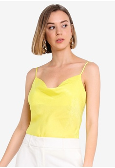 db7282959c13a Forever New yellow Carrie Cowl Neck Camisole 1FFABAAC90484EGS 1