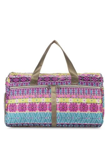 民族風印esprit hk花拼接多用行李袋, 包, 旅行袋