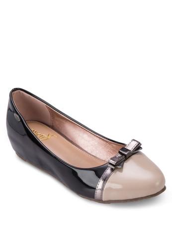 esprit hong kong金屬蝴蝶結拼色平底鞋, 女鞋, 鞋