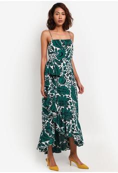 0f8e8a77c7d1ed J.Crew green and navy Milkshake Gown Tippecanoe Floral Silk Twill  7AAEEAAA4EED57GS_1