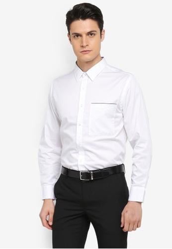 MANGO Man white Regular-Fit Contrast Trims Shirt BD9C5AAC594F67GS_1