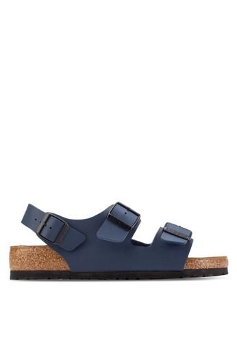 Birkenstock blue Milano Sandals BI090SH28COPMY_1