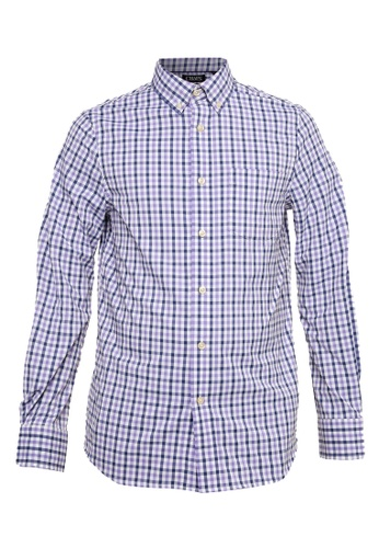 Chaps purple Chaps Checkered Easy-Care Shirt 0F112AA2A699B7GS_1