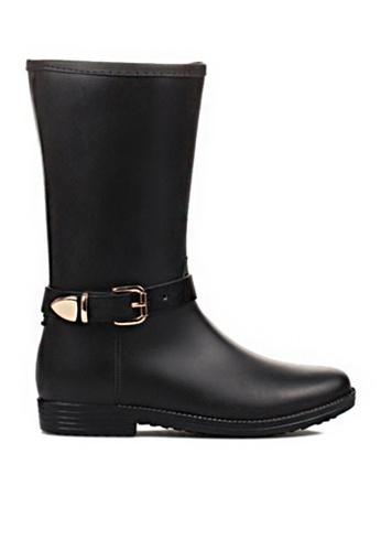 Twenty Eight Shoes black Buckle riding rain boot 905-1 TW446SH76GLVHK_1