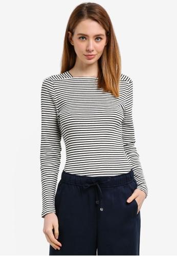 ESPRIT white Long Sleeve T-Shirt 86890AA7109D0BGS_1