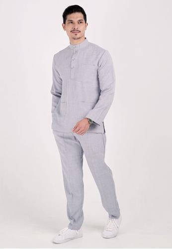 VELRIA grey BENTARA Baju Melayu Cekak Musang 50957AAB95C242GS_1