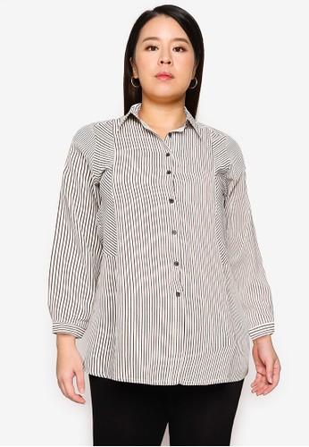 Ex'otico multi Long Sleeve Striper Long Shirt 1D3B3AAA73FA62GS_1