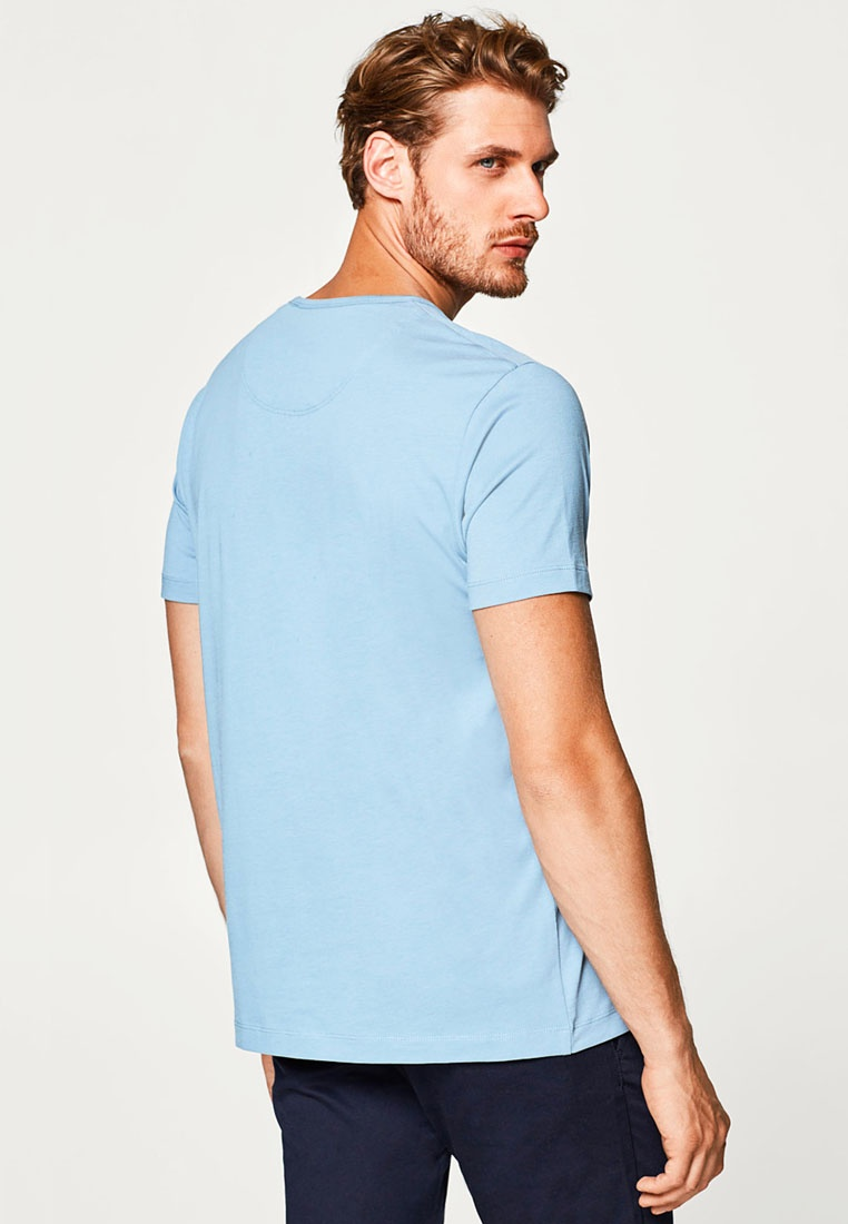Shirt Blue T Sleeve ESPRIT Short qE4awAqS