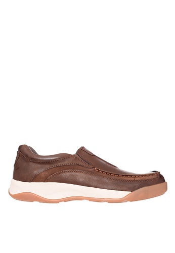Hush Puppies brown Hush Puppies Arvin Slip Ons - Brown 9EDCFSHAC34D0AGS_1