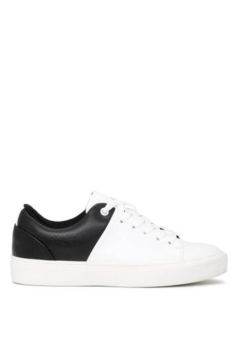 London Rag white BLACK and WHITE Lace-up Sneakers SH1664 B7B64SH0F92523GS_1