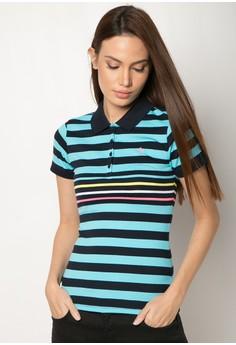 Engineered Stripes Slim Fit Polo