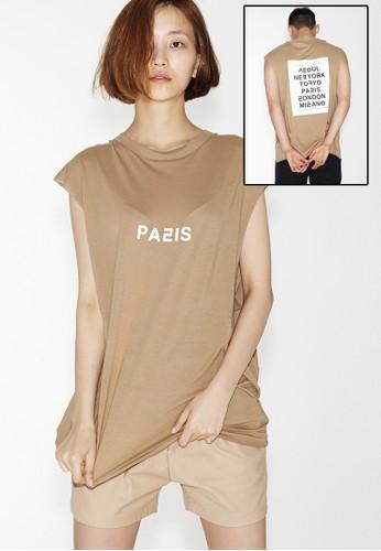 Love City Paris 無袖上esprit taiwan衣, 服飾, 上衣
