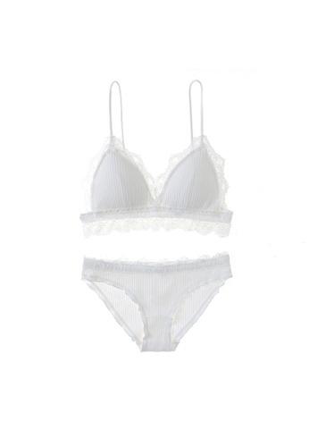 Midnight 白色 Premium Lace White Lingerie Set (Bra and Underwear) 2DDEFUS9FE4E01GS_1