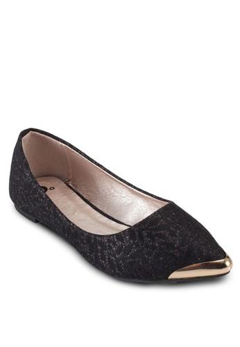 蕾絲尖頭平底esprit tw鞋, 女鞋, 鞋