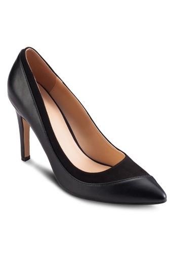 材質拼接高跟鞋,esprit專櫃 女鞋, 鞋