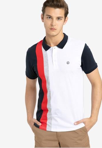 LC Waikiki white Striped Short Sleeve Polo Shirt B1D06AADCED491GS_1