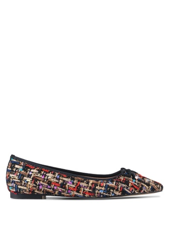 Velvet black and multi Tweed Ballet Flats CC91FSHC570014GS_1