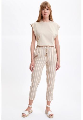 DeFacto beige Woman Woven Trouser F9F3BAA5C2BC95GS_1