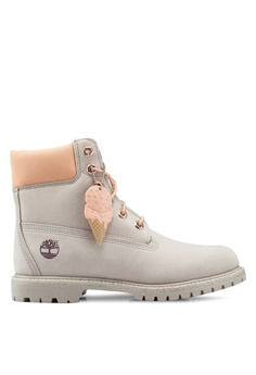 58d15b1fb12c Timberland grey and beige 6 Inch Premium Waterproof Boots 09A65SH4C35ECFGS 1