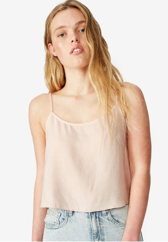 Cotton On beige Astrid Cropped Scoop Neck Top 4DED7AAC48BA98GS_1