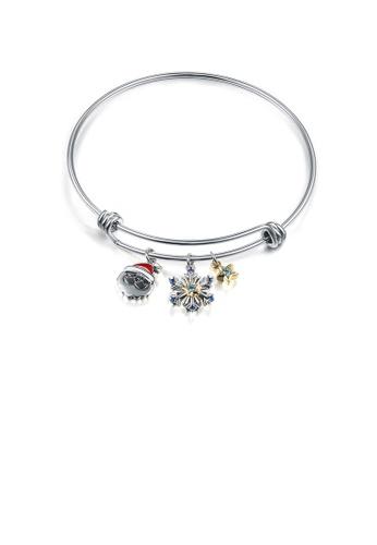 Glamorousky blue Fashion Santa Snowflake Bracelet with Austrian Element Crystal 278B2AC6E6F322GS_1