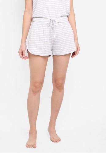 Cotton On Body white and grey Premium Sleep Shorts AB33CAAB719A97GS_1