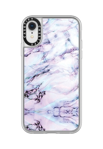 Casetify white and multi Marble Swirl Classic Grip Case for iPhone XR - Frost 4BAC2AC31FC67DGS_1