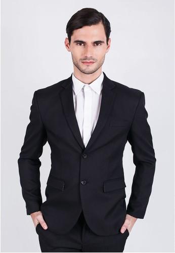 Johnwin black Johnwin -  Slim Fit - Formal Suits - Black - Blue Patch. JO804AA09YLYID_1