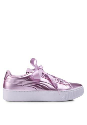 5a71ffb5e6 PUMA pink Sportstyle Core Puma Vikky Platform Ribbon Shoes  62835SHCCCAE3DGS 1