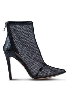 4b2213c9a9d Public Desire black Aleisha Stilettos Mesh Boots 4AF88SHD20F1A1GS 1