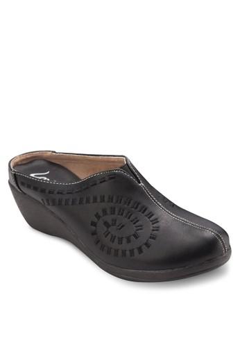 楔型跟經典包頭涼鞋esprit台灣outlet, 女鞋, 鞋